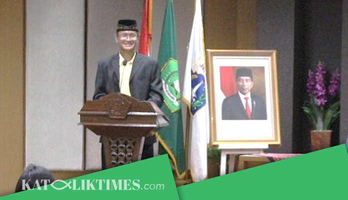 Dirjen Bimas Katolik RI Buka Acara Seminar Pemuda Katolik DKI Jakarta Tahun 2020