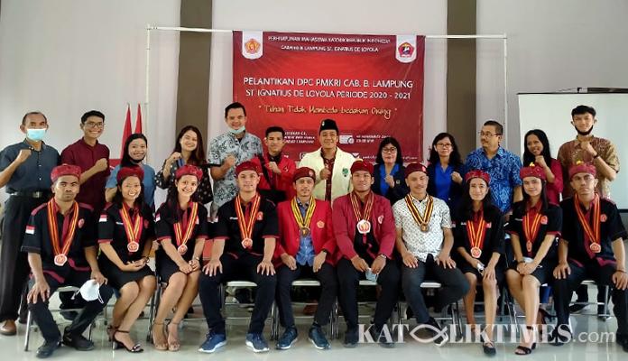 Benediktus Papa Lantik DPC PMKRI Cabang Bandar Lampung