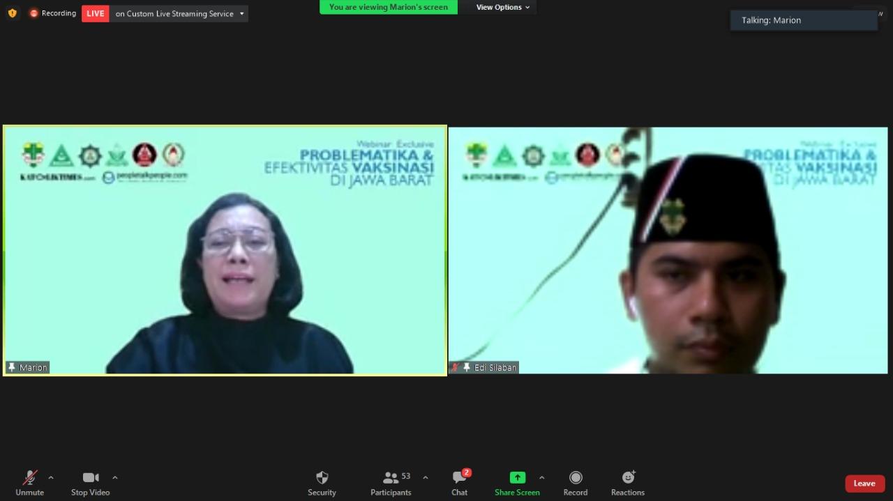 Pemuda Katolik Komda Jabar Gelar Webinar Bahas Problematika dan Efektivitas Vaksinasi Covid-19 di Jabar